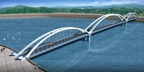 Yellow River Bridge behind the Xiaolangdi Dam