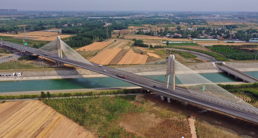 South to North Water Diversion Bridge on Shangqiu-Dengfeng Expressway