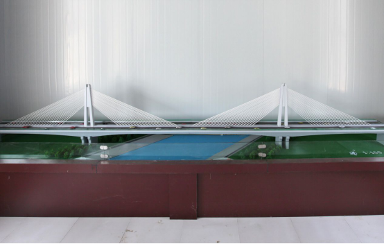 Sand Table Model of Cable Stayed Bridge of Shangqiu-Dengfeng Expressway Crossing South-north Water Transfer Canal