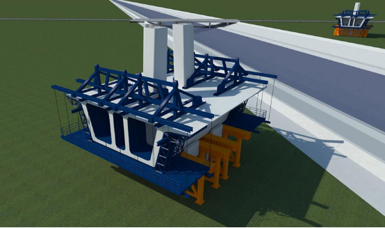 3D Construction Animation of Cable Stayed Bridge of Shangqiu-Dengfeng Expressway Crossing South-north Water Transfer Canal