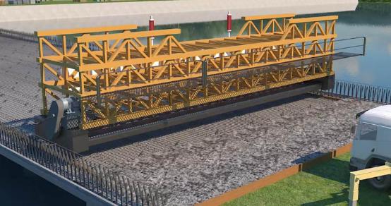 3D Animation of Pavement Construction of the Xixian-Xingji Expressway Bridge
