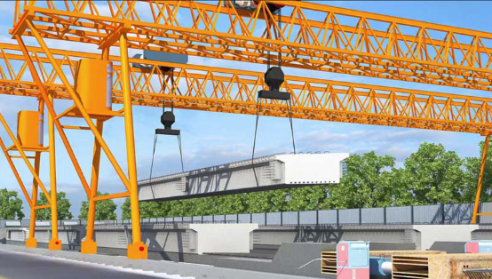 3D Animation of Construction of the Hollow Precast Slab for Zhoukou-Nanyang Expressway