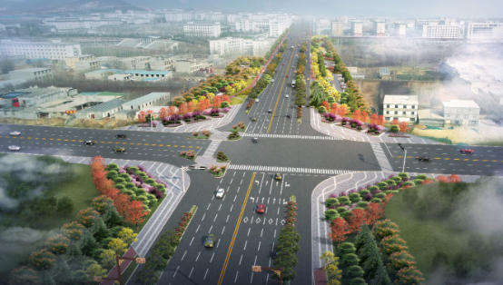 Corridor Greening Improvement Project of Dayu West Road in Dengfeng City