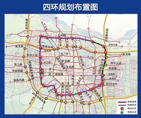 Fourth Ring Road and Dahe Road Rapid EngineeringProject in Zhengzhou was Officially Started