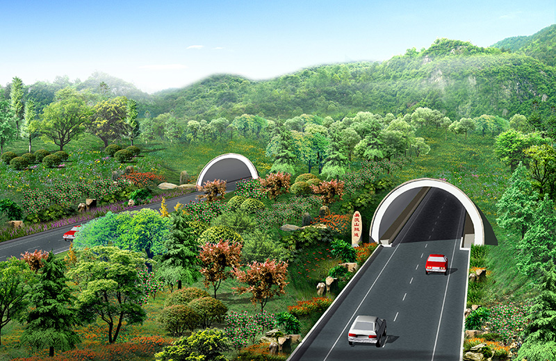 Shizhu Tunnel on Zhengzhou-Raoshan Expressway